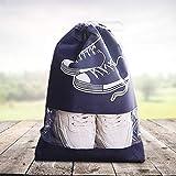 DFVVR - Bolsa de almacenamiento para zapatos de viaje para el hogar y el jardín, impermeable y resistente al polvo, limpieza y organizadores, azul, Large