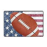 Marlon Kitty Alfombra de área de fútbol Americano con Bandera Americana, Alfombra Lavable, decoración, Sala, Comedor, Alfombra, 60 x 39 Pulgadas