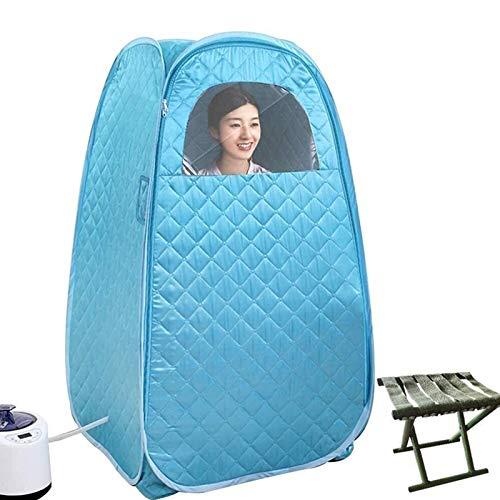 ZYQDRZ Persönliche Dampfsauna, Faltbares Familien-Dampfsauna-Zelt, Badebox-Hydrotherapie-Gewichtsverlustmaschine, Einschließlich Fernbedienung,Blau