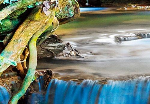 Bilder 200×100 cm – Wasserfester Leinwanddruck ! XXL Format – Fertig Aufgespannt – TOP – Vlies Leinwand – 5 Teilig – Wand Bild – Kunstdruck – Wandbild – Landschaft Natur Wasserfall Thailand Baum Wald 030212-101 200×100 cm B&D XXL - 5