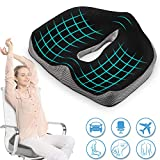 Pootack Orthopedic Seat Cushion, Coccyx Chair Cushion For Sciatica Hemorrhoid Tailbone Back Pain