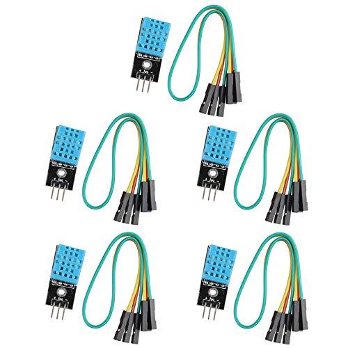 HALJIA DHT11 Digitales Temperatur-/Luftfeuchtigkeitssensormodul, kompatibel mit Arduino, 5 Stück