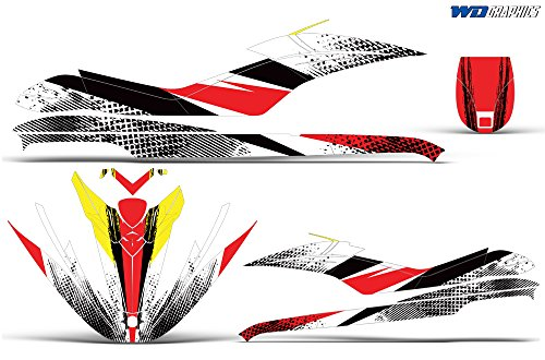 Wholesale Decals Jet Ski Graphics kit Sticker Decal Compatible with Sea-Doo GTI 2006-2010 - Bold Race