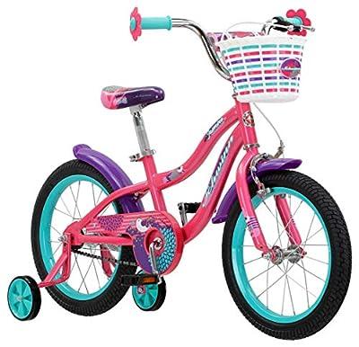 Schwinn Jasmine Girls Bike with Training Wheels, 16-Inch Wheels, Multiple Colors from Schwinn