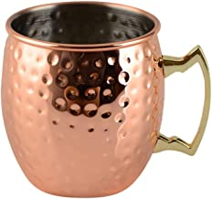 كوب من الفولاذ المقاوم للصدأ للشرب عصير أكواب زجاجية للشرب مع أداة السفر المنزلية (ذهبي روزي)
