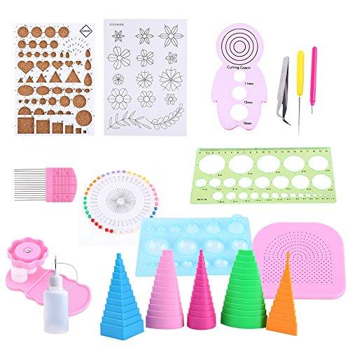 Vobor Paper Quilling Set-1 Set Quilling Kit para enrollar Papel Herramientas ranuradas Pinza Regla para la decoración de la Oficina en casa