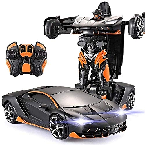 Review Woote One Button Deformed Autobot Electric Car Toy Birthday Present Boys Girls Children Remot...