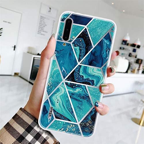 Yoodi Capa Xiaomi Mi A3, capa Mi CC9e, capa ultrafina [design de mármore] pele de gel de silicone TPU macio leve, capa protetora flexível à prova de choque - cor 10