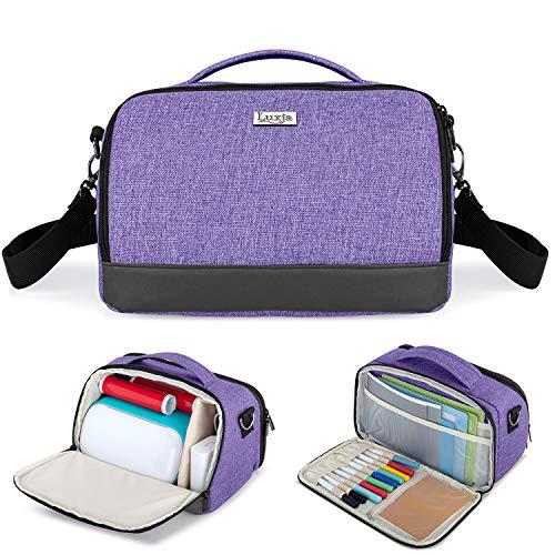 Luxja Tragetasche für Cricut Joy, Tasche für Cricut Joy und Werkzeugset (mit Zubehör-Aufbewahrungsfach), lila (nur Tasche, zum Patent angemeldet)