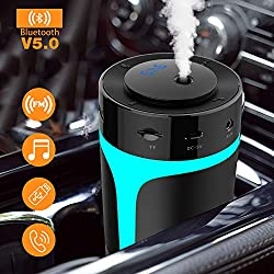 Best Car Gadgets for Traveling and Road Trips featured by top US travel blogger, Marcie in Mommyland: bluetooth car humidifier