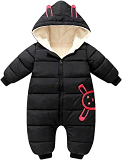 Genda 2Archer Infant Toddler Warm Jumpsuit Padded Thick Zipper Coat Hood Snowsuit