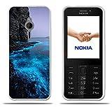 FUBAODA für Nokia 230 Hülle, [Fluoreszierende Küste] Transparente Silizium Clear TPU Glamour Serie Slim Fit Shockproof Flexible Vollschutz Anti-Shock-Design-Schutz für Nokia 230