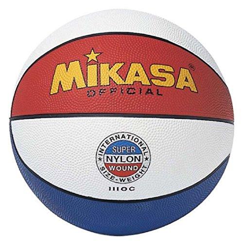 MIKASA 1110-C Balón de Baloncesto, Adultos Unisex, Tricolor, 7
