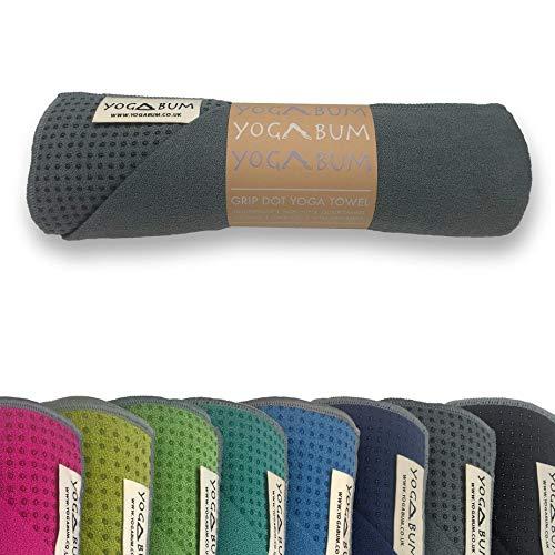 Yogabum Klassische Kollektion Anti-Rutsch Yoga-Matte Yoga Handtucher (Slate Grey)