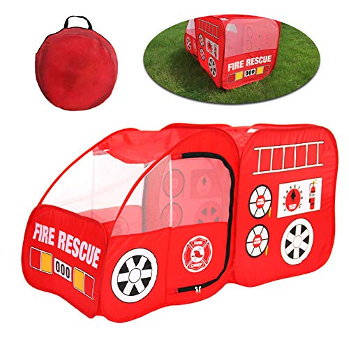 Kids Car Tent Play House, Fire Truck Model Indoor Play Tents, with Carry Bag for Outdoors, Toys for Boys Girls Children