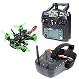 BGNing Mantis85 85mm 6CH RC FPV Micro Racing Drone Quadcopter RTF 600TVL Caméra VTX et Double Antenne 40ch Mini Vidéo Lunettes