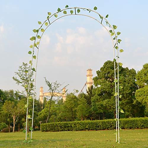 BestAAA Garden Arches Artificial, Leaf Garland Plants Vine Hanging Wedding Garland Home Kitchen Garden Wedding Wall Decor(White/140 * 39 * 240cm)