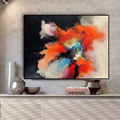 Leinwand Poster und Drucke Pop Art Bilder auf skandinavischen Wand abstrakte Aquarellwolke Landschaft Ölgemälde Rahmenlos 20x30cm auf Wohnzimmer