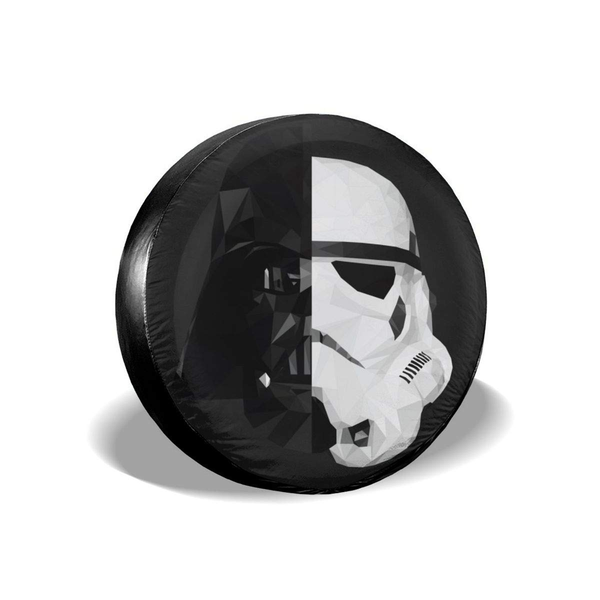 Truck and Many Vehicle Wheel Diameter 17inch RV SUV Storm Trooper Star Wars Spare Tire Cover Universal Dust-Proof Waterproof Wheel Covers-for Jeep Trailer