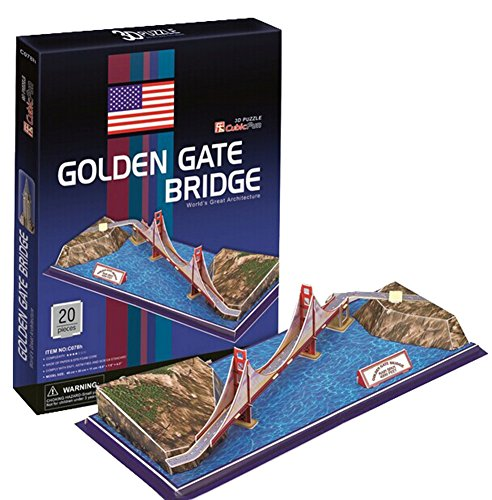 Kinon-Toys Kid 3D Stereoscopic Puzzle Jigsaw Golden Gate Bridge Fancy Toy