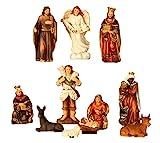 Geschenkestadl Krippenfiguren 11-teiliges Set Krippe Figuren bis 8,5 cm Weihnachten Maria Josef Jesus
