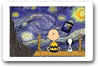 wangsajko Personalized Custom Doctor Who and Snoopy Doormat (L23.6