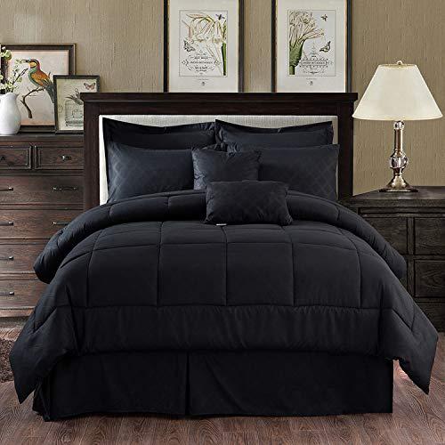 MERRY HOME Comforter Set Queen, 10 Piece Comforter Bedding Set with...