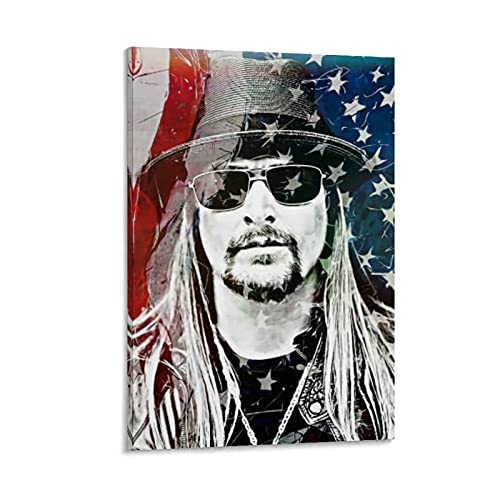 Kid Rock Art PosterCanvas Painting Wall Art Living Room Bedroom Picture Prints Modern Family Decor Study Gift Posters08x12inch(20x30cm)