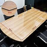 Anladia Schutzfolie Transparent Tischschutz 2mm Tischfolie 90 x 130cm - 2