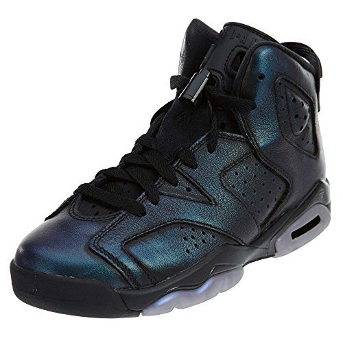 Jordan Nike Kids Air 6 Retro AS BG Black/Black White Basketball Shoe 5.5 Kids US