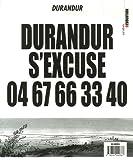 Durandur T02 durandur s'excuse 0467663340 - Je pisse sur la bande dessinée