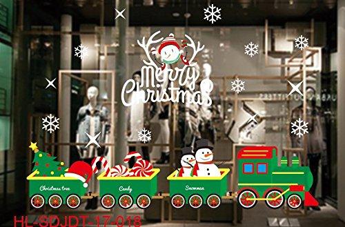 Kerst decoratie-kaart statisch-herten glas kunst showcase posters slingers muur oppervlak, lichtgrijs HL-18