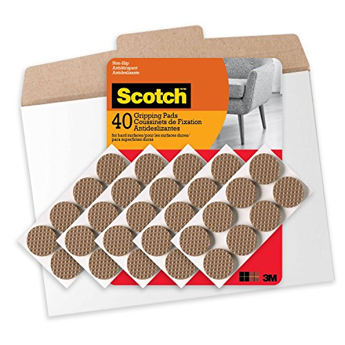 Scotch Gripping Pads in Easy to Open Packaging 1 in 40 Pads Brown