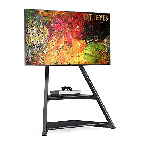FITUEYES Eiffel Series Art Floor TV Stand for 45-75 Inch TVs LCD/LED Screens Height Adjustable...