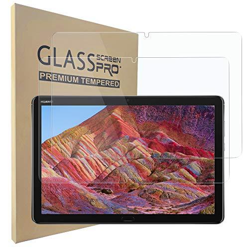"""Hianjoo 2 Piezas Pantalla Protector Compatible con Huawei MediaPad M5 Lite 10 10.1"""" 2018, Premium Cristal Tablet Salvapantallas Vidrio Templado [9H Dureza][Alta Claridad][Sin Burbujas]"""