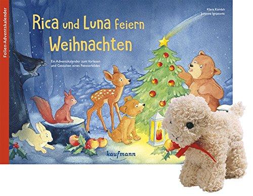 Rica und Luna feiern Weihnachten mit Stoffschaf. Ein Adventskalender zum Vorlesen und Gestalten eines Fensterbildes (Adventskalender mit Geschichten für Kinder / Ein Buch zum Vorlesen und Basteln)
