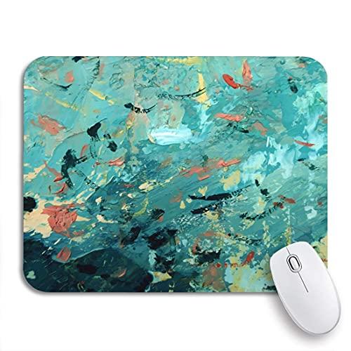 Mousepad Druck Mauspad Mauspad, Blaue Leinwand Abstrakte Ölgemälde Komposition Aquarell Tinte Muster, Büro Mauspad Mauspads Schreibtischzubehör Bürogeschenk