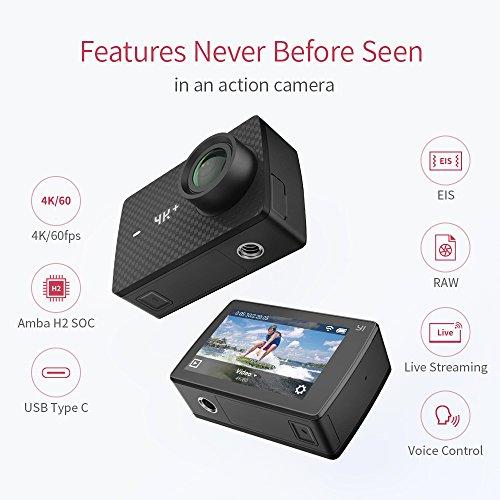 YI 4K Plus Action Kamera Schwarz 4K/60fps 12MP Wasserfest - 3