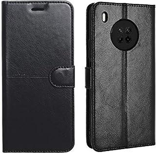 جراب جلد كايي محفظة ذكية لهاتف هواوي Y9a - أسود
