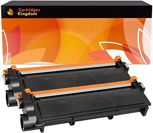 Cartridges Kingdom 2X TN2320 Schwarz Toner kompatibel für Brother HL-L2300D HL-L2340DW HL-L2360DN HL-L2365DW DCP-L2500D DCP-L2520DW DCP-L2540DN DCP-L2560DW MFC-L2700DW MFC-L2720DW MFC-L2740DW