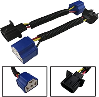 Audak 2 Pcs H13 9008 Male to H4 9003 Female Wiring Harness Adapters For Headlights or Fog Lights