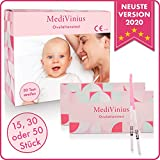 MediVinius® - Ovulationstest mit sicherem Ergebnis - Fruchtbarkeitstest für Frauen mit Kinderwunsch [25 MiU/ml] - einfache Anwendung (50)