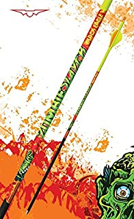 Image of Black Eagle Zombie Slayer Fletched Carbon Hunting Arrows - 12 Pack (400/.003 Crested)