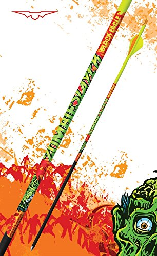 Black Eagle Zombie Slayer Fletched Carbon Hunting Arrows - 12 Pack (400/.003 Crested)
