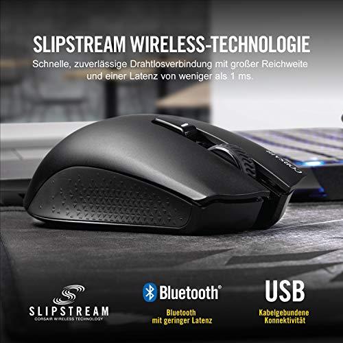 Corsair Harpoon Kabellose RGB Wiederaufladbare Optisch Gaming-Maus (mit SLIPSTREAM Technologie, 10.000DPI Optisch Sensor, RGB LED Hintergrundbeleuchtung) schwarz - 3