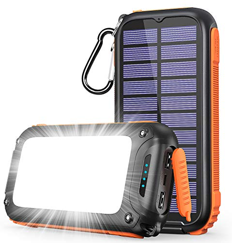 モバイルバッテリー ソーラー 26800mAh 大容量 Tranmix ソーラーチャージャー 急速充電 ソーラー充電器 3つUSB出力ポート Type-C入力ポート 32個高輝度LEDライト コンパクト iPhone/iPad/Android各種対応 PSE認証済 緊急停電対策 災害/出張/旅行/アウトドア用
