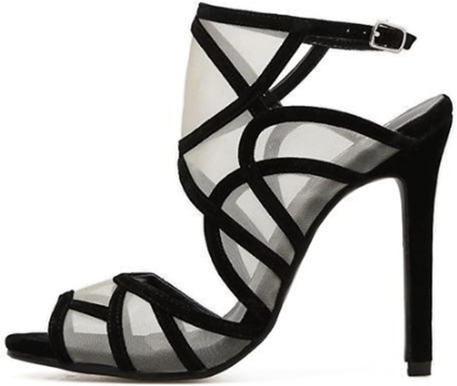IINFINE Womens Summer Sexy high Heel Strappy Open Toe High Thin Heel Sandal Cute Strappy shoes