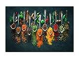 Kräuter und Gewürze Chili Löffel Leinwand Malerei