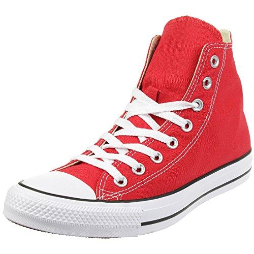 Converse - Chuck Taylor All Star Hi, Sneaker Unisex – Bambini, Rosso, 35
