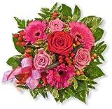Blumenstrauß Blumenversand 'Herzensgrüße' +Gratis Grußkarte+Wunschtermin+Frischhaltemittel+Geschenkverpackung